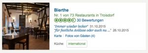 Restaurant Troisdorf - TripAdvisor Bewertung